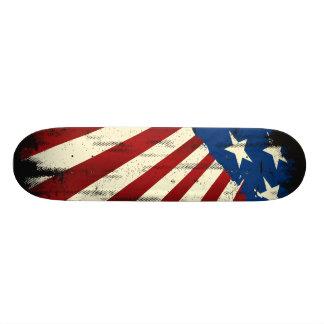 Patriotic America Grunge Flag Skateboard