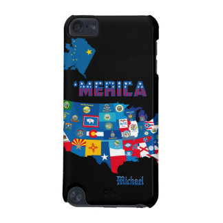 Patriotic America Map With States Flags iPod Cas iPod Touch 5G Cover