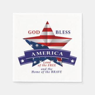Patriotic America Star Design (v3) Napkin