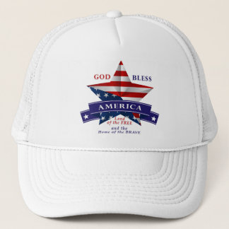 Patriotic America Star Design (v3) Trucker Hat