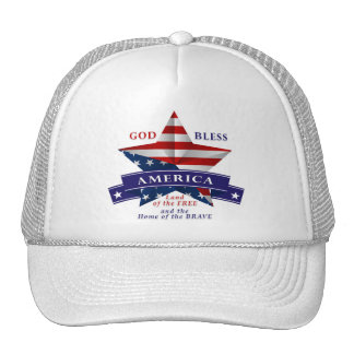 Patriotic America Star Design (v3) Trucker Hat