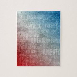Patriotic America Text Graphic Jigsaw Puzzle