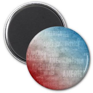 Patriotic America Text Graphic Magnet