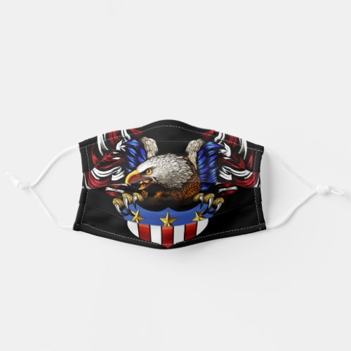 Patriotic American Bald Eagle Adult Cloth Face Mask