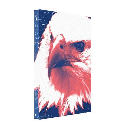 Patriotic American Bald Eagle Art Gallery Wrap Canvas