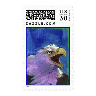 Patriotic American Bald Eagle Bird Postage Stamps