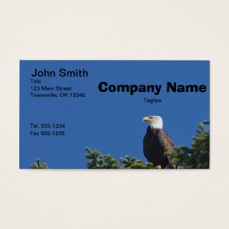 Patriotic American Bald Eagle Business Card