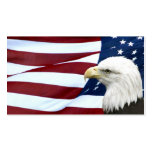 Patriotic American business or profile card