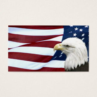 Patriotic American business or profile card