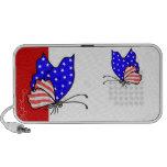Patriotic American Butterflies Doodle Speaker