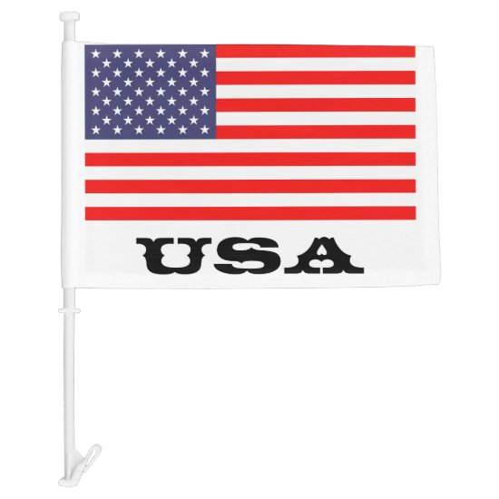 Patriotic American car flag | USA pride design