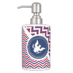 Patriotic American Chevron with Eagle Toothbrush Holder