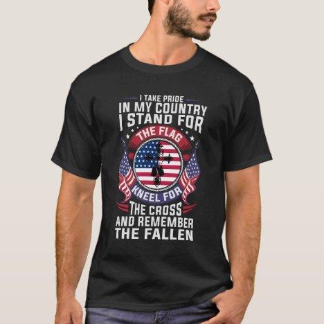 Patriotic American Christian Military Veteran T-Shirt