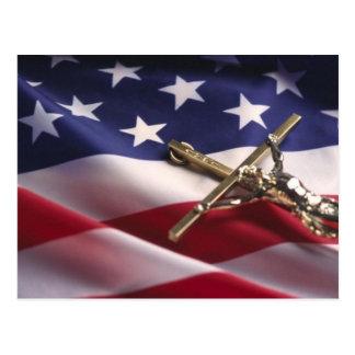 PATRIOTIC AMERICAN CHRISTIAN POSTCARD