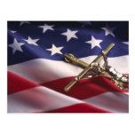 PATRIOTIC AMERICAN CHRISTIAN POSTCARDS