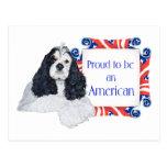 Patriotic American Cocker Spaniel Post Card
