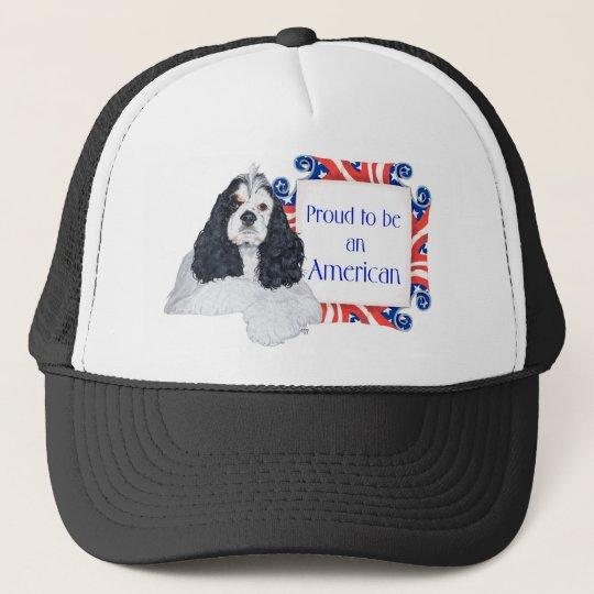 Patriotic American Cocker Spaniel Trucker Hat