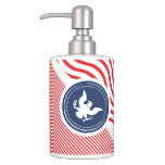 Patriotic American Colors with Eagle Bath Set