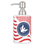 Patriotic American Colors with Eagle Bath Accessory Set