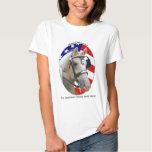 Patriotic American Cream Draft Horse T Shirt