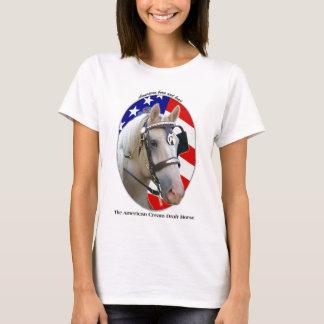 Patriotic American Cream Draft Horse T-Shirt