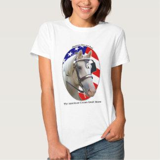 Patriotic American Cream Draft Horse Tshirt