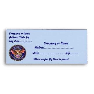 Patriotic American Customize View Notes Please Envelope