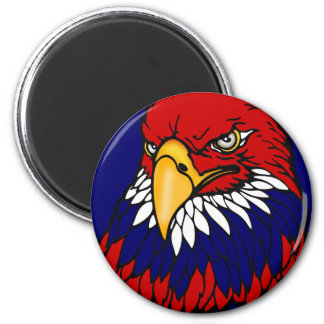 Patriotic American eagle 2 Inch Round Magnet