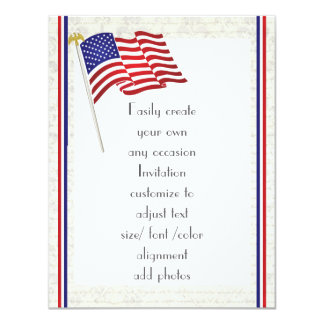 Patriotic American eagle and flag 2 Card