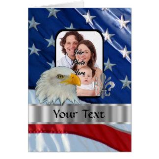 Patriotic American eagle Card