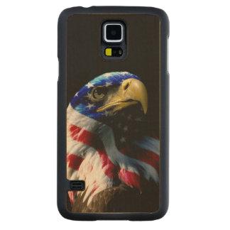 Patriotic American Eagle Carved® Maple Galaxy S5 Case
