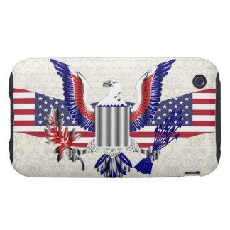 Patriotic American eagle Tough iPhone 3 Case