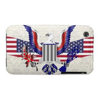 Patriotic American eagle iPhone 3 Case-Mate Cases