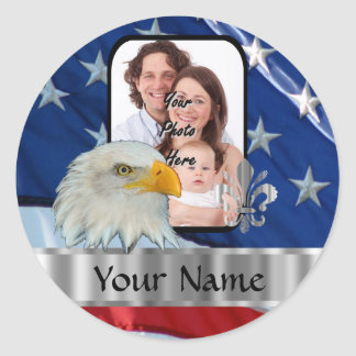 Patriotic American eagle Classic Round Sticker