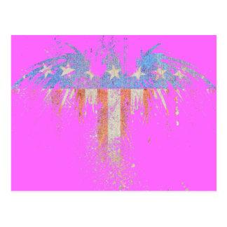 Patriotic American Eagle Flag Postcard