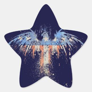 Patriotic American Eagle Flag Star Sticker