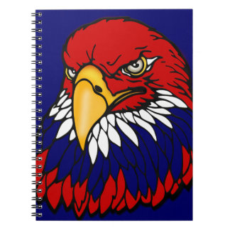Patriotic American eagle July 4th Spiral Note Book