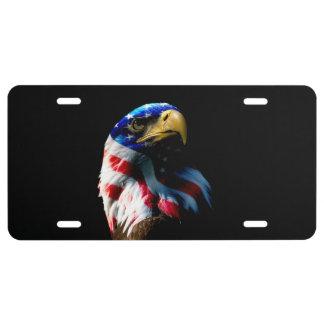 Patriotic American Eagle License Plate