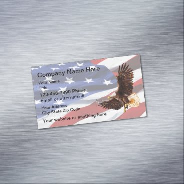 Professional Business Patriotic American Eagle Magnetic Business Card