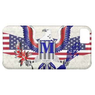 Patriotic American eagle personalized monogram iPhone 5C Cover