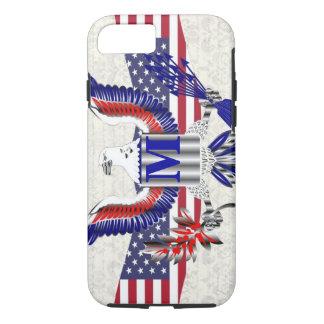 Patriotic American eagle personalized monogram iPhone 7 Case