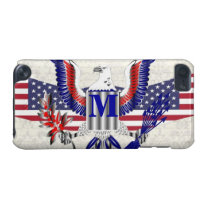 Patriotic American eagle personalized monogram iPod Touch 5G Case