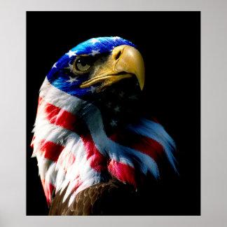 Patriotic American Eagle Poster