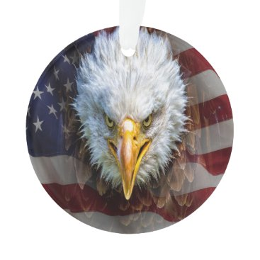 Patriotic American Eagle - See Back Ornament