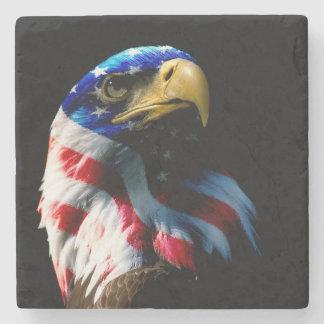 Patriotic American Eagle Stone Coaster