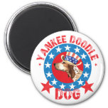 Patriotic American English Coonhound 2 Inch Round Magnet