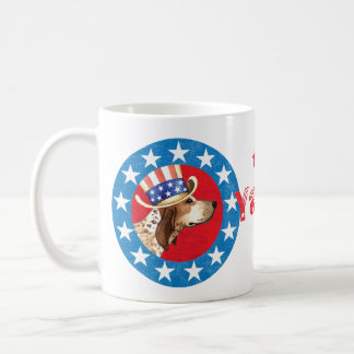 Patriotic American English Coonhound Coffee Mug
