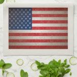 Patriotic American Flag 50 Stars Hand Towel