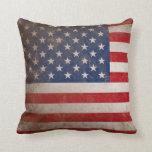 Patriotic American Flag 50 Stars Pillow