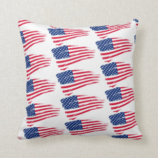 Patriotic American Flag Accent Pillow